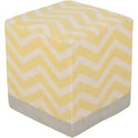 Chevron Albi Square Cotton 16-inch Pouf