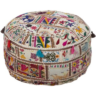 Geometric Acle Round Cotton 22-inch Pouf