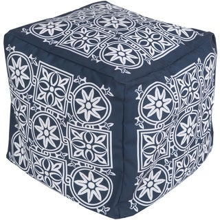 Floral Auber Square Polyester 18-inch Pouf
