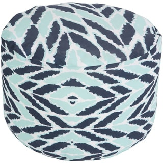 Herringbone Navua Round Polyester 18-inch Round Pouf