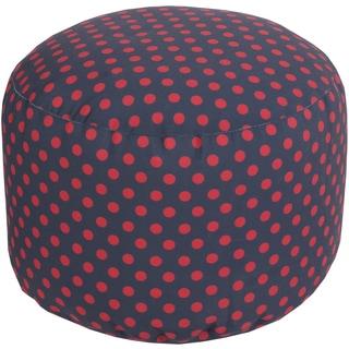 Polka Dots Chibi Round Polyester Pouf (20 x 13 Round)
