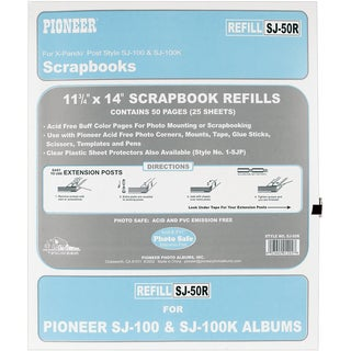 Pioneer Post Bound Refill Pages 25/Pkg11inX14in