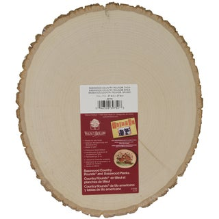 Basswood Country Round Plaque9in To 11in Wide