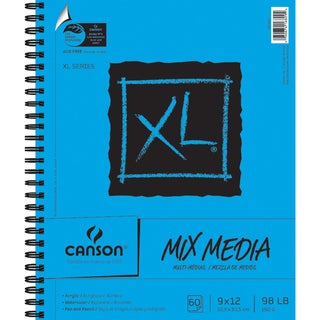 Canson XL Spiral MultiMedia Paper Pad 9inX12in60 Sheets