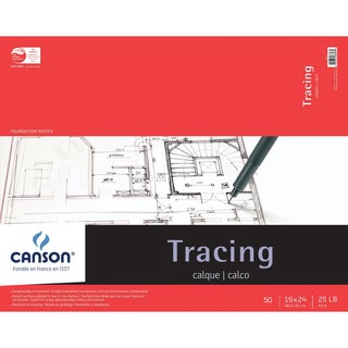 Canson Foundation Series Tracing Paper Pad 19inX24in50 Sheets