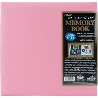 Pastel Leatherette Post Bound Album 12inX12inLight Pink