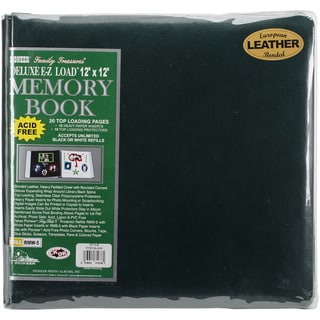 Deluxe Bonded Leather Scrapbook 12inX12inHunter Green