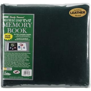 Deluxe Bonded Leather Scrapbook 12inX12inHunter Green