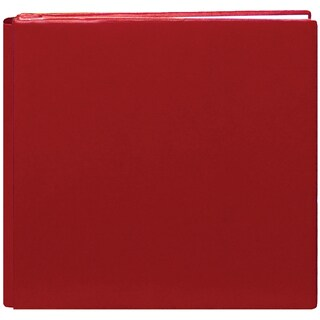 Deluxe Bonded Leather Scrapbook 12inX12inRed