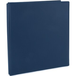Pioneer Family Treasures Deluxe Fabric Post Bound Album 12inX15inMidnight Blue