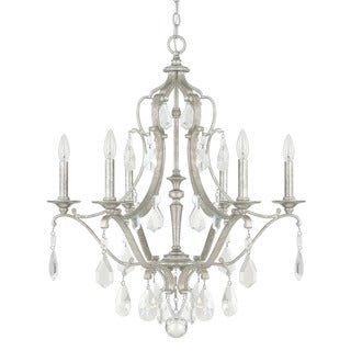 capital lighting blakely collection 6light antique silver chandelier