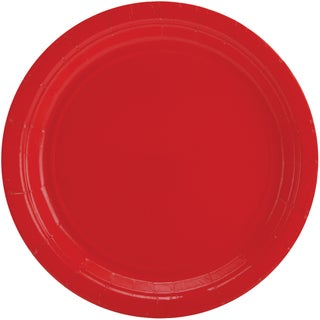Big Party Pack Dinner Plates 9in 50/PkgApple Red
