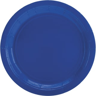 Big Party Pack Dinner Plates 9in 50/PkgBright Royal Blue