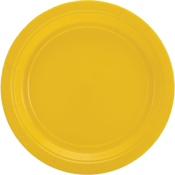 Big Party Pack Dinner Plates 9in 50/PkgSunshine Yellow