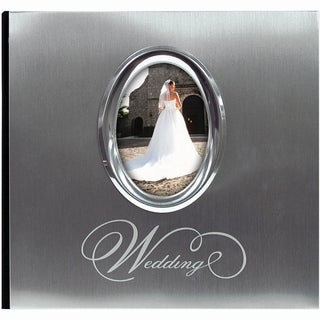 Silver Wedding Photo Album 9.75inX6.75in 200 Pockets