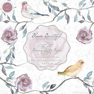 Craft Consortium DoubleSided Paper Pad 12inX12in 40/PkgBloom Beautiful, 2 Each Of 20 Designs