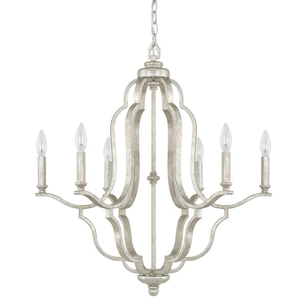 capital lighting blair collection 6light antique silver chandelier