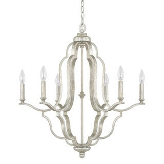Capital Lighting Blair Collection 6-light Antique Silver Chandelier