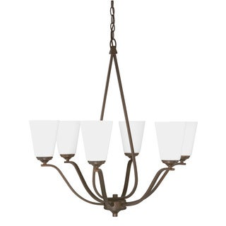 Capital Lighting Braxton Collection 6-light Burnished Bronze Chandelier