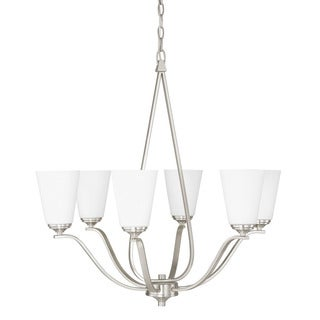 Capital Lighting Braxton Collection 6-light Brushed Nickel Chandelier