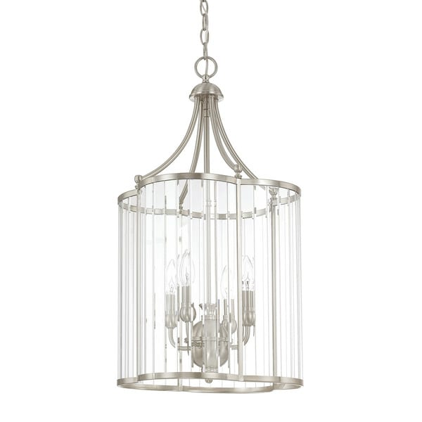 Brushed Nickel Foyer Lighting : Shop capital lighting hamilton collection light brushed