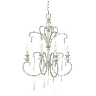 Capital Lighting Celine Collection 4-light Antique Silver Foyer Fixture