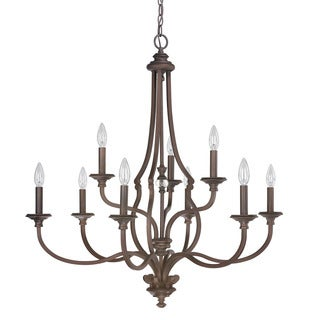 Capital Lighting Leigh Collection 9-light Burnished Bronze Chandelier