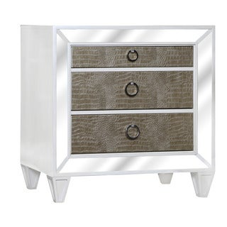 Magnussen B2935 Monroe White Finish Wood Drawer Nightstand