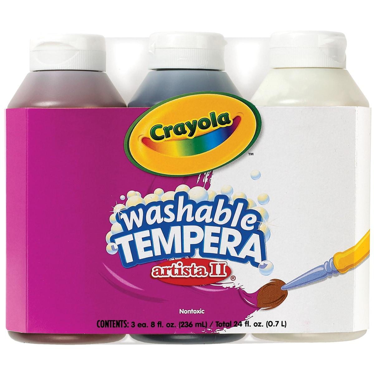 Crayola Artista II Washable Tempera Paint 8oz 3/PkgNeutra...