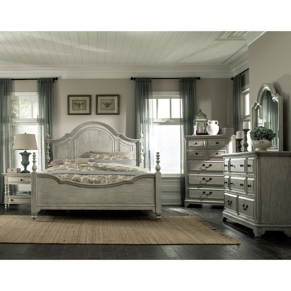 Magnussen B3341 Windsor Lane White Finish Wood Complete Poster Bed