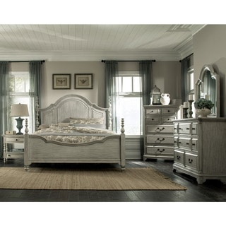 Magnussen B3341 Windsor Lane White Finish Wood Complete Poster Bed