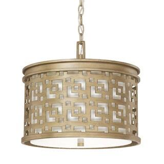Capital Lighting Jasper Collection 3-light Brushed Gold Pendant