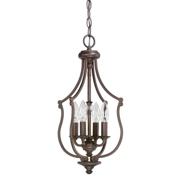 Foyer Lighting Overstock : Capital lighting leigh collection light burnished bronze