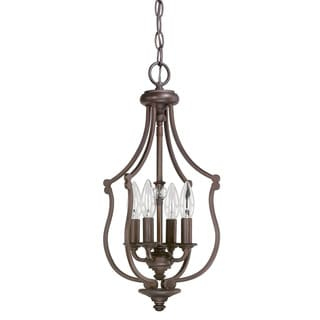 Capital Lighting Leigh Collection 4-light Burnished Bronze Foyer Fixture