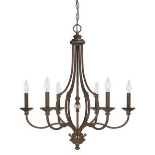 Capital Lighting Leigh Collection 6-light Burnished Bronze Chandelier