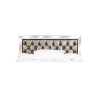 Magnussen B2935 Monroe White Finish Wood King-sized Panel Bed Headboard