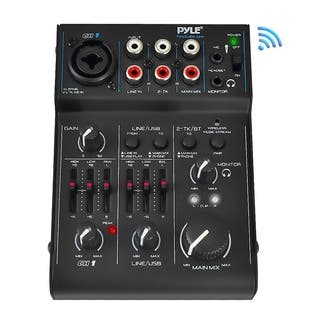 Pyle PAD30MXUBT Bluetooth 3-channel Mixer DJ Controller Audio Interface with 18V Power Supply|https://ak1.ostkcdn.com/images/products/10549015/P17628694.jpg?impolicy=medium