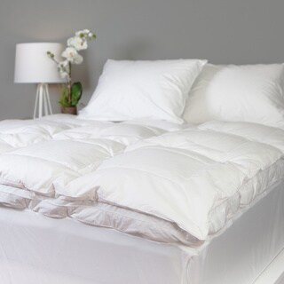 Grandeur Collection Overfilled 300 Thread Count Cotton Down and Goose Feather Bed Twin XL Size(As Is Item)