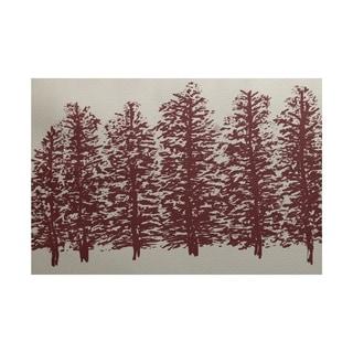 Through The Woods Flower Print Rug (2' x 3')