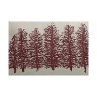 Through The Woods Flower Print Rug - 2' x 3'