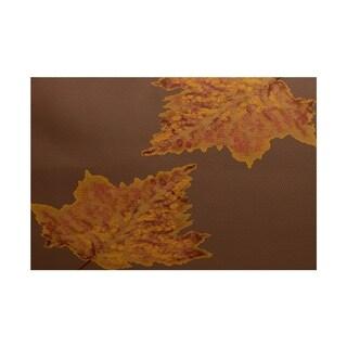 Dance Leaves Floral Print Rug (5' x 7')