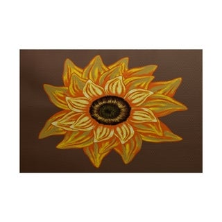 El Girasol Feliz Flower Print Rug (2' x 3')