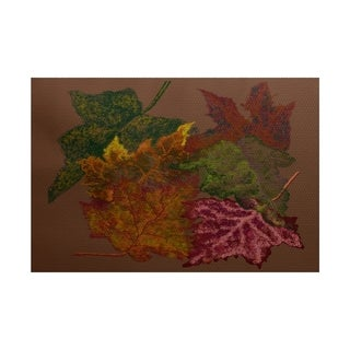Autumn Leaves Floral Print Rug (5' x 7')