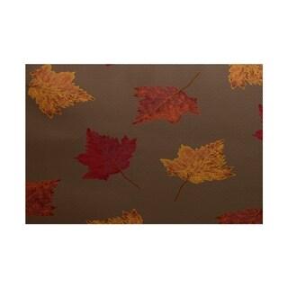 Dancing Leaves Floral Print Rug (5' x 7')