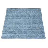 Square Wool and Viscose Rayon from Bamboo Modern Handmade Oriental Rug - 2'1 x 2'1