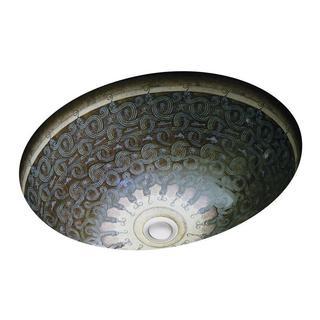 Kohler Caxton Undermount Bathroom Sink in Sandbar with Serpentine Bronze Design