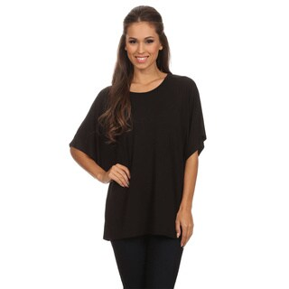 MOA Collection Women's Basic Solid Top Shirt
