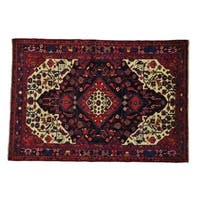 Full Pile Persian Nahavand Hand Knotted Oriental Rug - 5'2 x 7'8