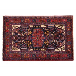 Full Pile Persian Nahavand Hand Knotted Oriental Rug (5'5 x 8'7)