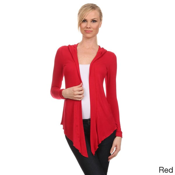 Shop MOA Collection Women's Solid Open Front Cardigan with
